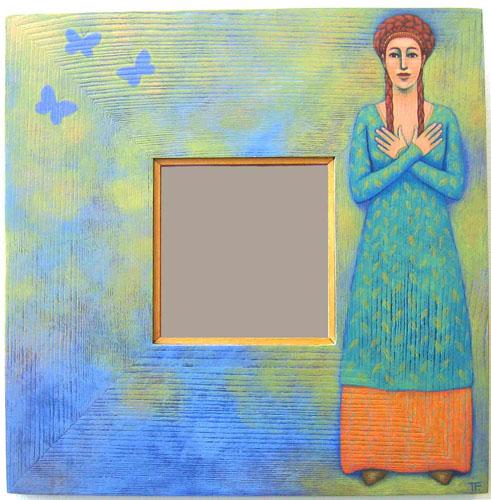 Mariposa mirror by Teresa Flavin
