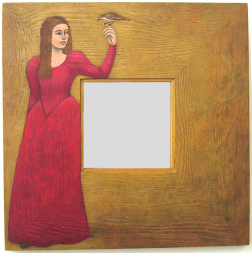 Philomela and the Nightingale mirror by Teresa Flavin