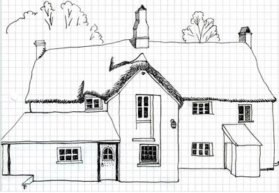 Totleigh Barton Sketch by Teresa Flavin