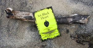 Jet Black Heart on the sands of a Yorkshire beach