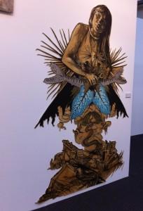 Art by Swoon at the London Art Fair 2015.