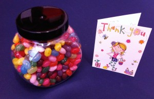 My scrumptious thank you gift from the pupils!
