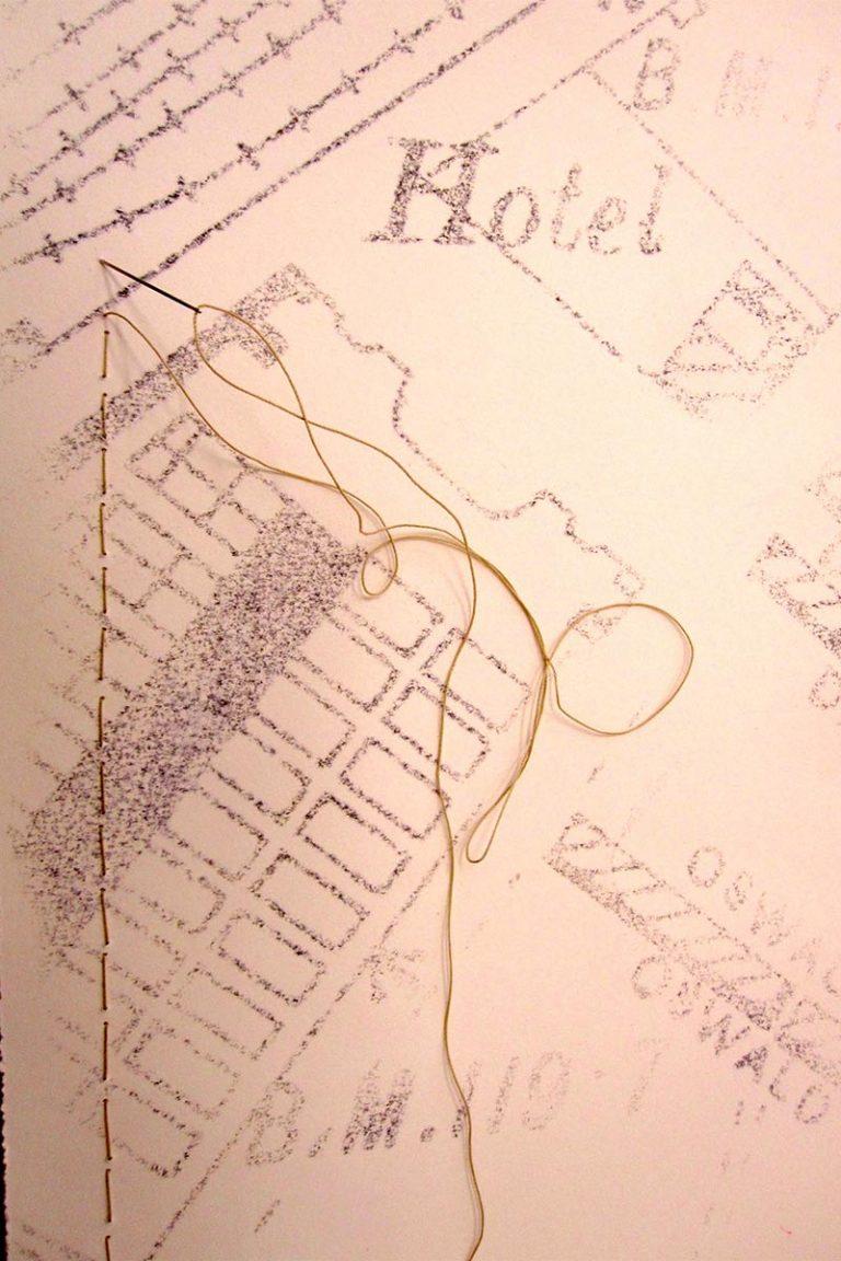 Teresa Flavin - detail from Patrick Studios map commission
