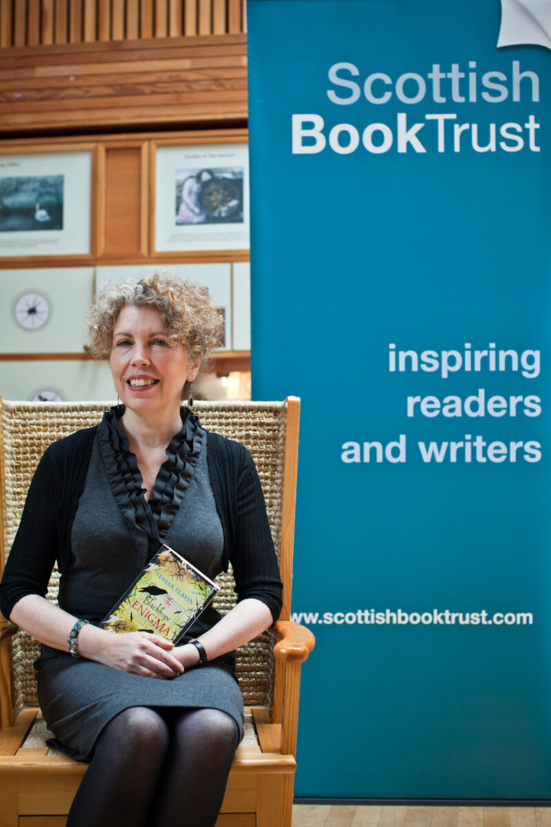 Teresa Flavin, at the Scottish Book Trust