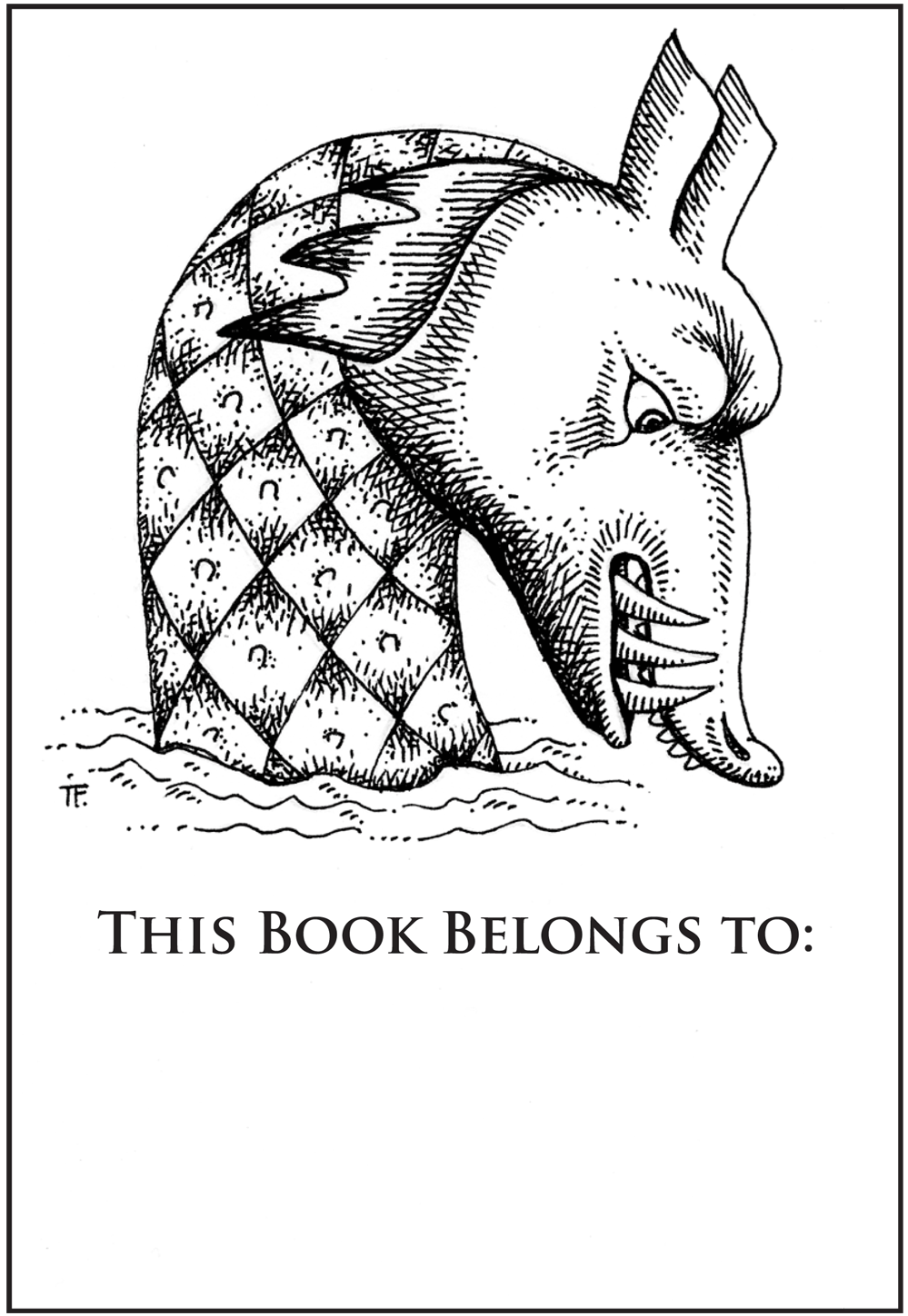 Sea Monster Bookplate