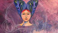 Teresa Flavin fairy character painting in progress.