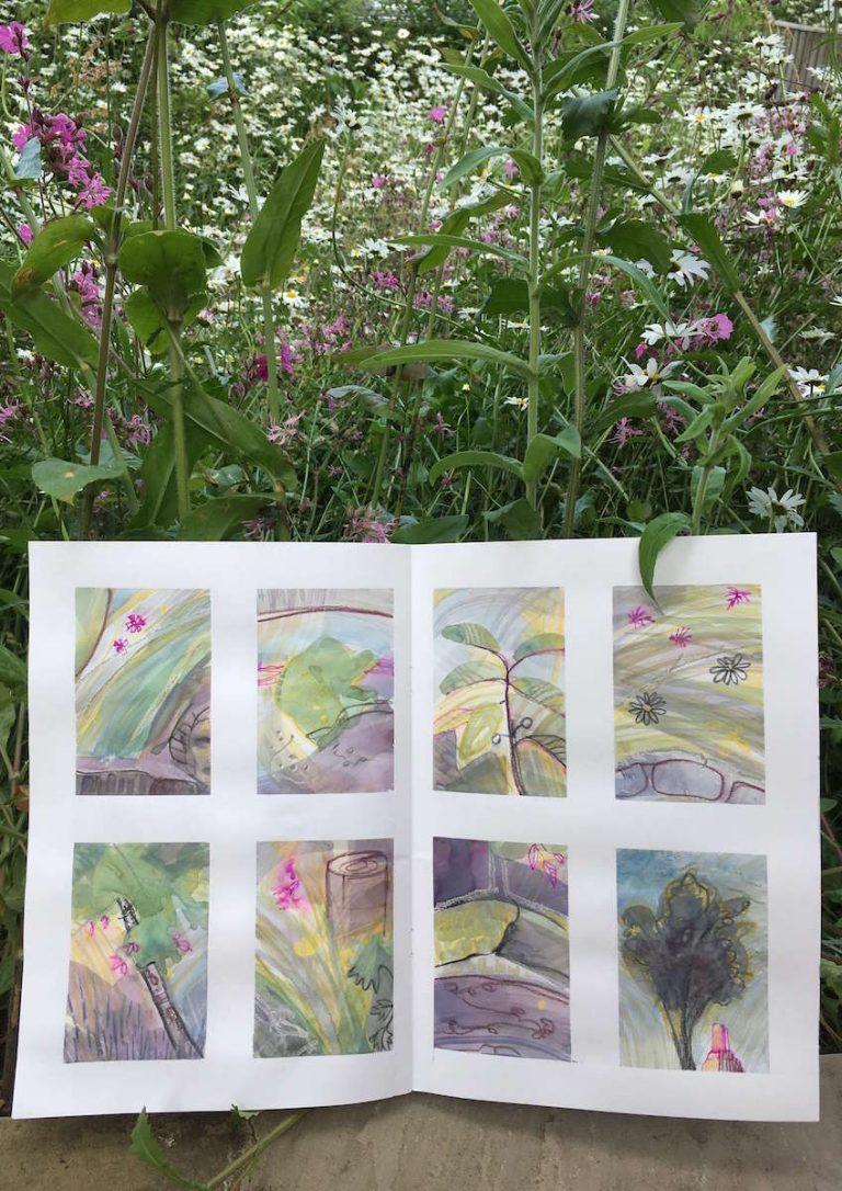 Teresa Flavin - day 11 sketchbook in the garden 2021