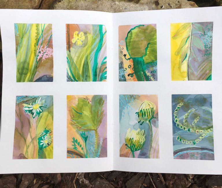 Teresa Flavin - day 7 sketchbook in the garden 2021