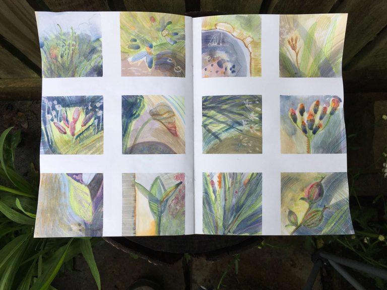 Teresa Flavin - day 8 sketchbook in the garden 2021