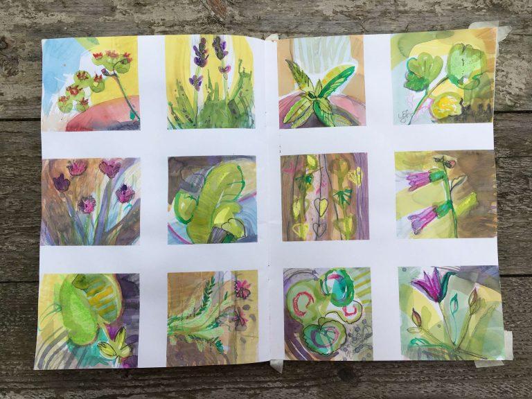 Teresa Flavin - day 9 sketchbook in the garden 2021