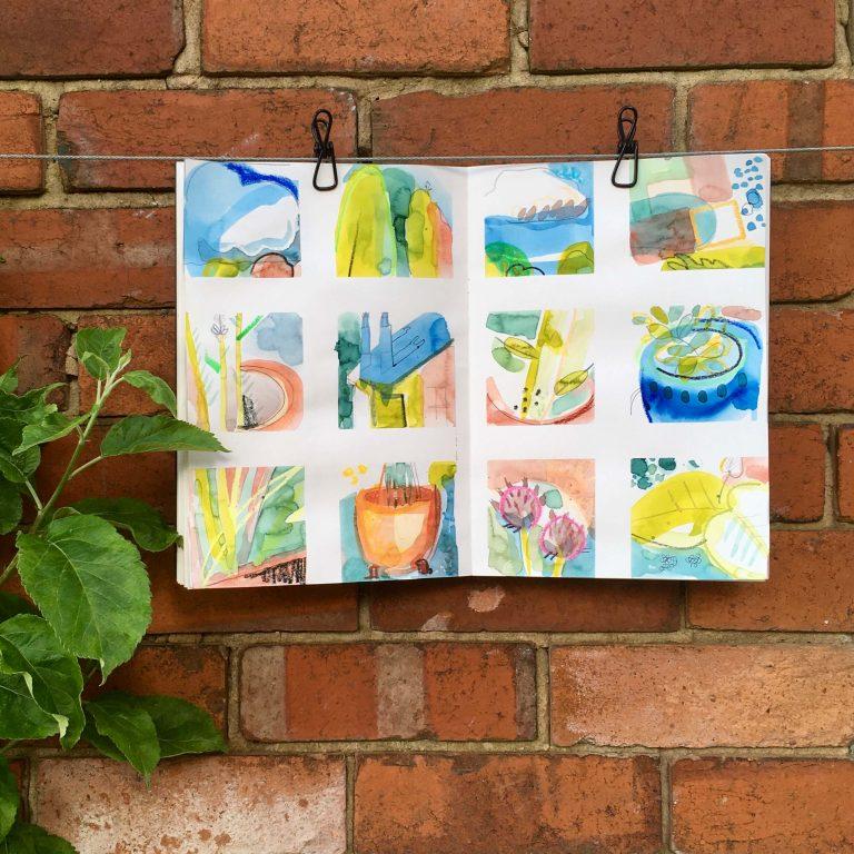 Teresa Flavin - day 2 sketchbook in the garden 2021