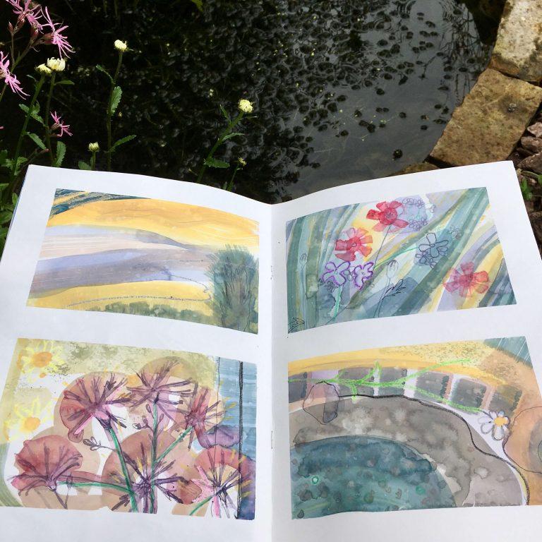 Teresa Flavin - day 3 sketchbook in the garden 2021